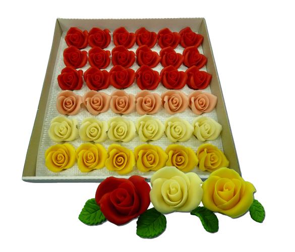 Купить Марципановые розы среднего размера для украшения тортов цена