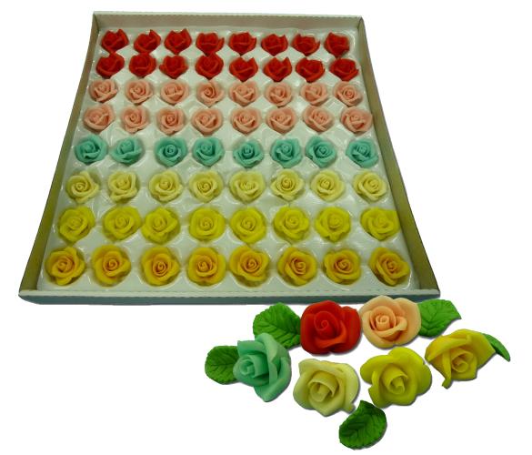 Купить Марципановые мини розы для украшения тортов.