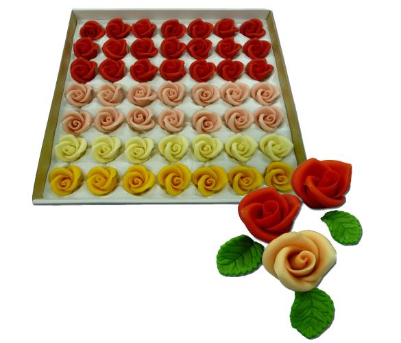 Купить Марципановые розы маленького размера для украшения тортов цена