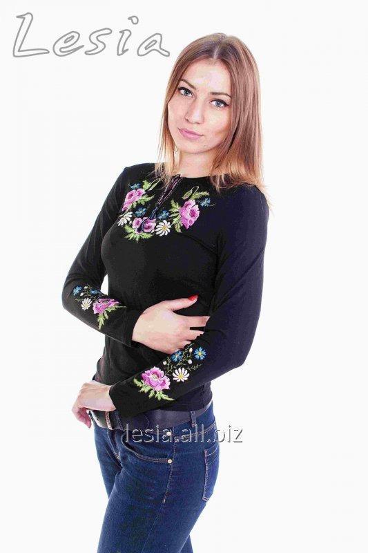 Жіноча вишиванка Маки фіолет код 1131028
