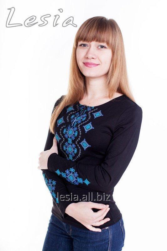 Жіноча вишиванка Хвилька бірюза код 1131306