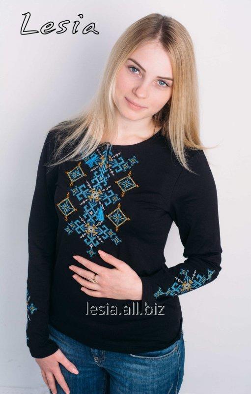 Жіноча вишиванка Русинка жовто-блакитна код 1131443