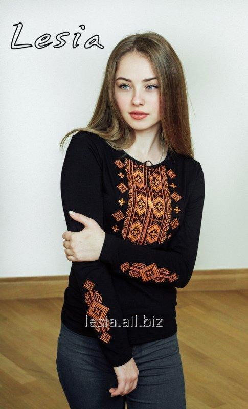 Жіноча вишиванка Гуцулка Нова оранж код 1131482