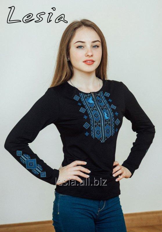 Жіноча вишиванка Гуцулка Нова синя код 1131485