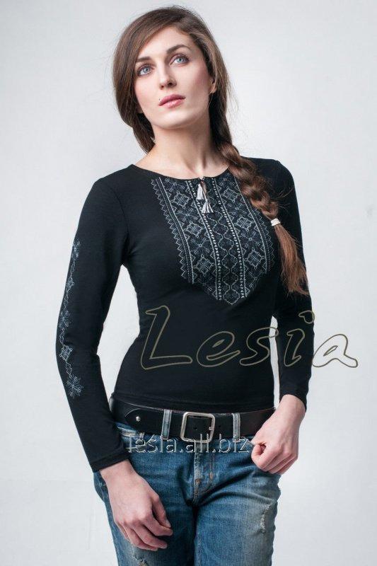 Жіноча вишиванка Мережка сіра код 1131550