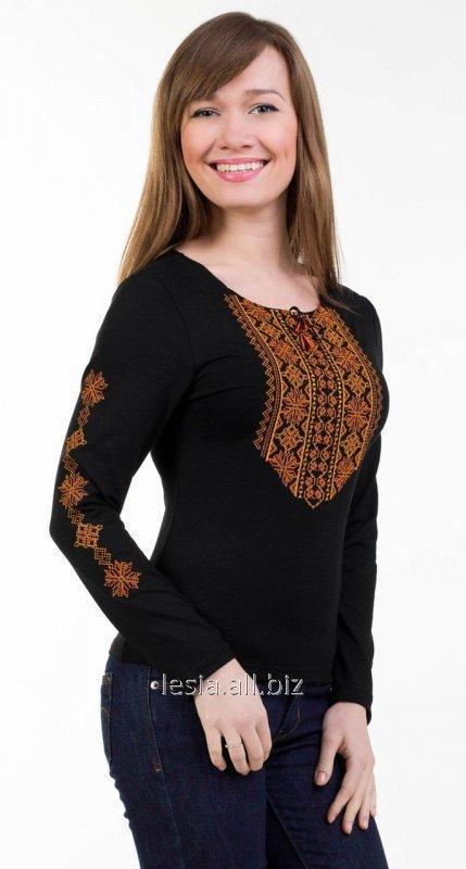 Жіноча вишиванка Мережка оранж код 1131552