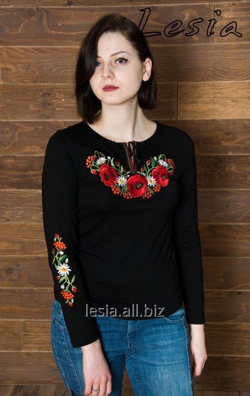 Жіноча вишиванка маковий цвіт код 1132241