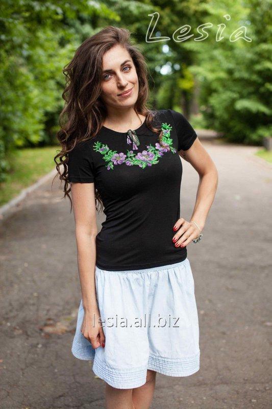 Жіноча вишиванка Вінок Дунаю фіолет код 1110057