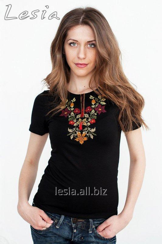 Жіноча футболка з вишивкою Золота осінь код 1110072