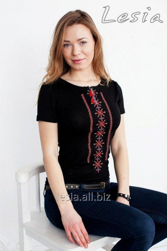 Жіноча футболка Класика червона код 1110221