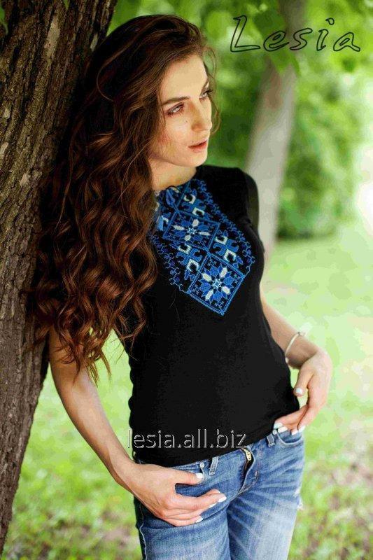 Жіноча вишиванка Подолянка синя код 1110396
