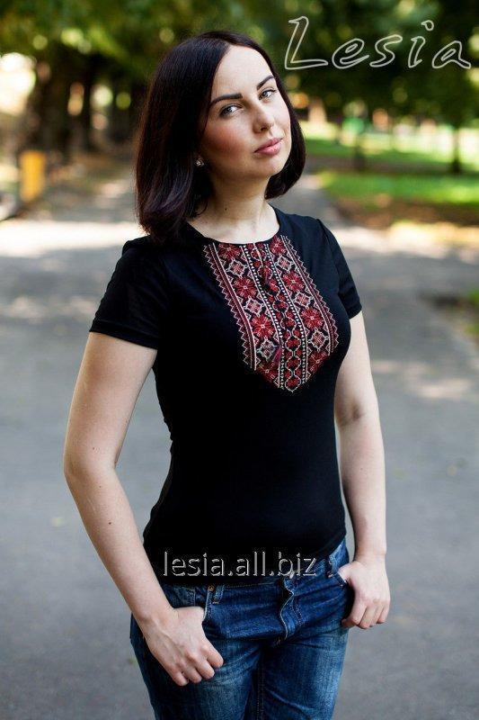 Жіноча футболка Мережка червона код 1110551