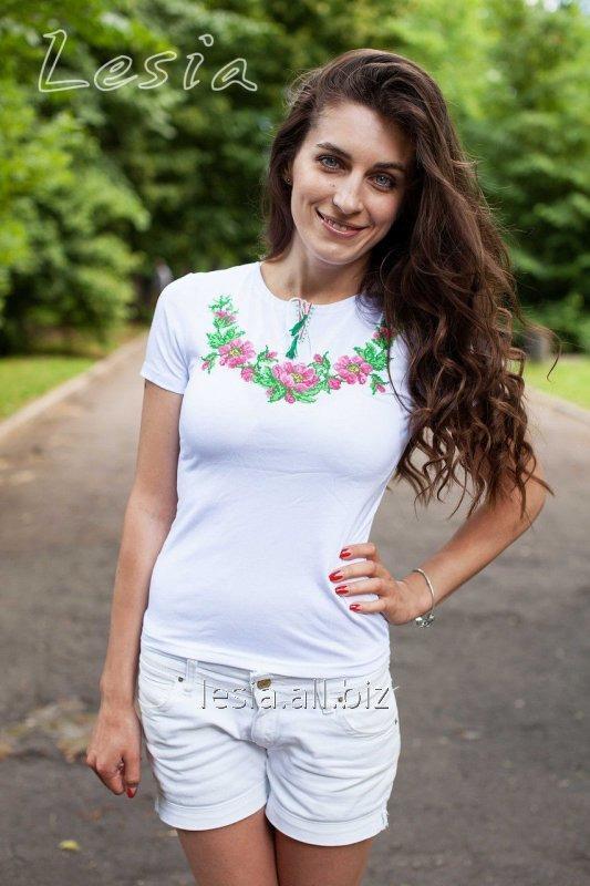 Жіноча вишиванка Вінок Дунаю рожевий код 1210057
