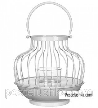 Buy The decorative product Greenware in the form of a small lamp White
