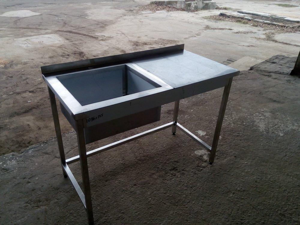 Стол  мойка 1500х600х850  (чаша сварная 500х450х300)