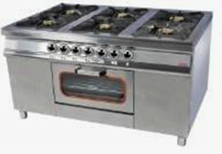 Плита 6-ти конфорочная с духовым шкафом и газовым контроллером Pimak МО15-6 40х40