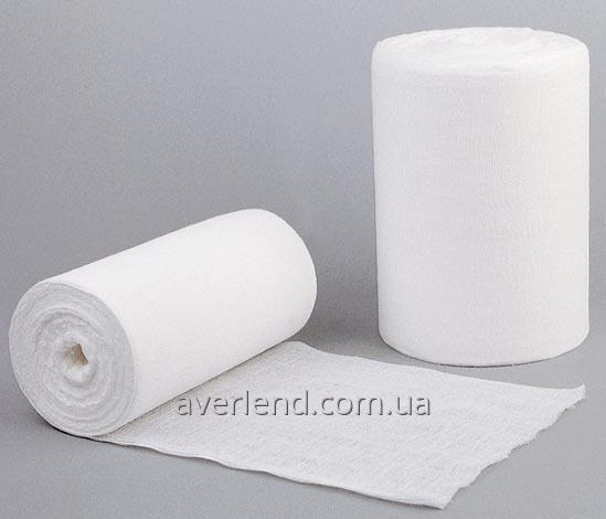 Gauze medical in rolls