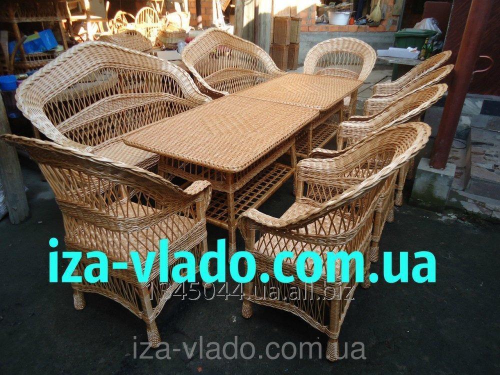 Купить Плетеная мебель из лозы- Набор Капля 6 код 251193131