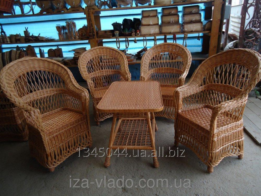 Купить Плетеная мебель из лозы- Набор Капля Ажур 3 код 96352450