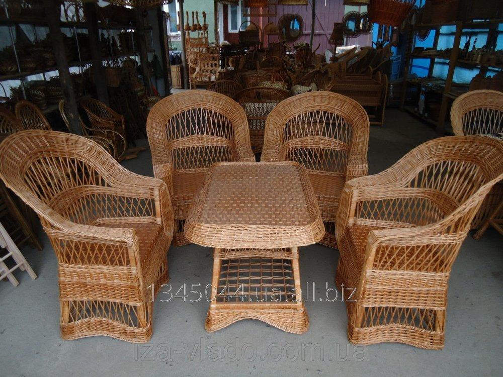Купить Плетеная мебель из лозы- Набор Капля Люкс 2 код 96352629