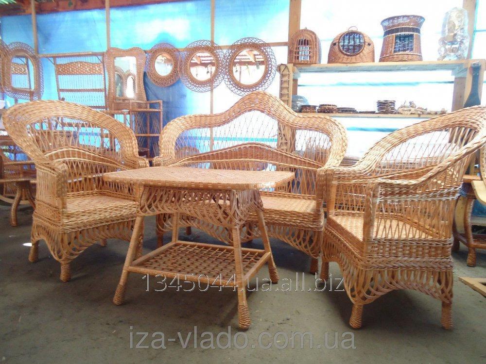 Купить Плетеная мебель из лозы- Набор Капля-Ажур код 46071642