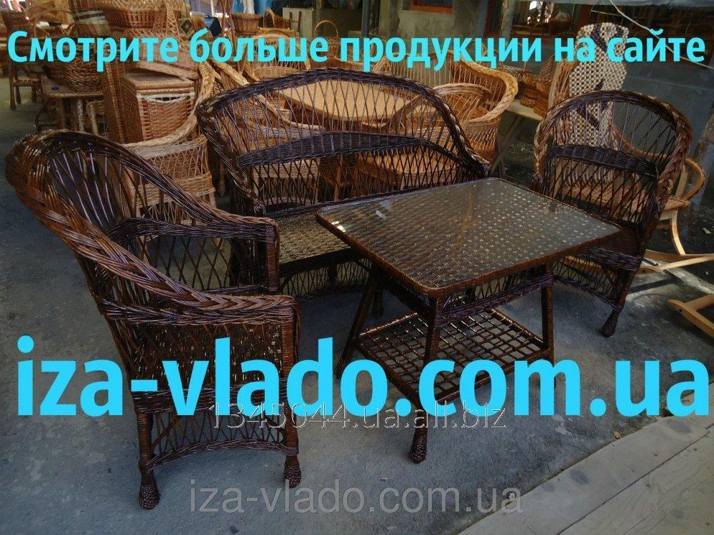 Купить Плетеная мебель из лозы- Набор Простой 1 тёмный код 226288119