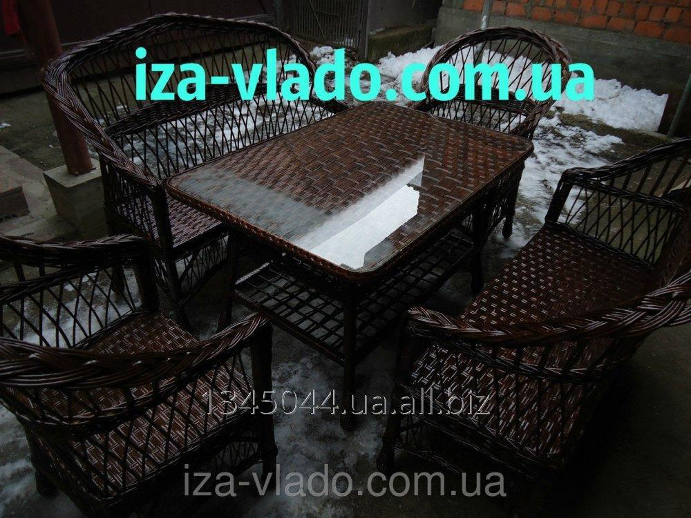 Купить Плетеная мебель из лозы- Набор Простой 3 тёмный код 226288803