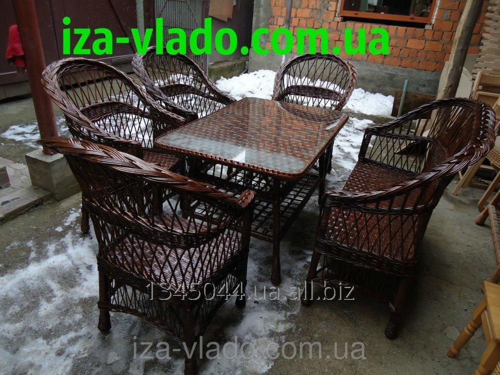 Купить Плетеная мебель из лозы- Набор Простой 4 тёмный код 226289792