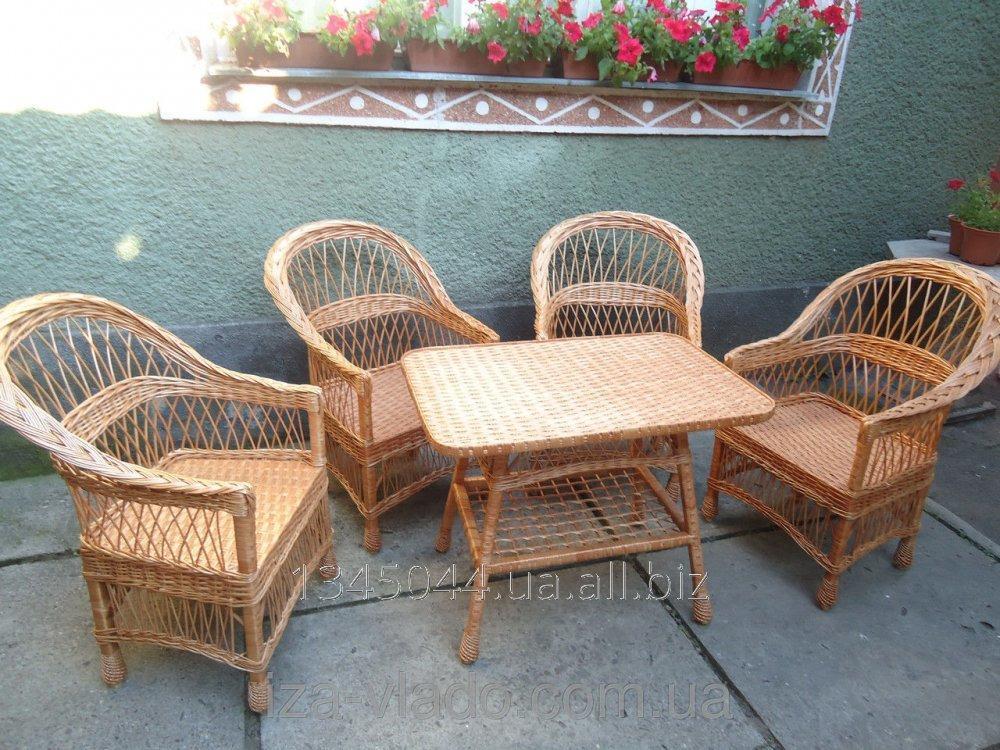 Купить Плетеная мебель из лозы- Набор Простый 4 код 46091059