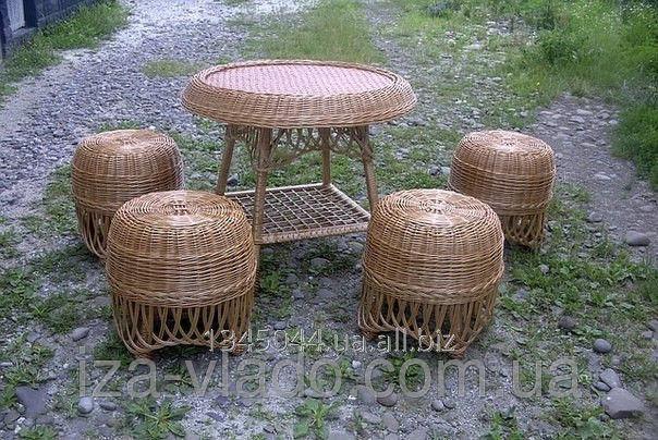 Купить Плетеная мебель из лозы- Набор Пуфик код 46101582