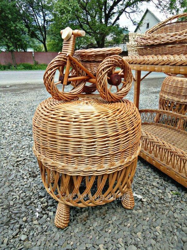 Купить Пуфик плетеный из лозы код 46099189