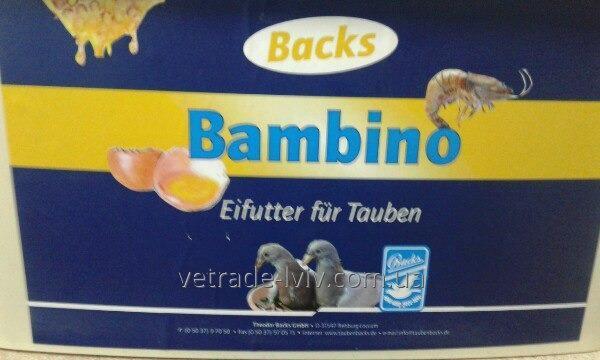 Искусственный корм для молодняка голубей Bambino 5кг