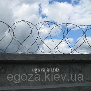 Спиральное колюче-режущеее заграждение Егоза Стандарт 400/5
