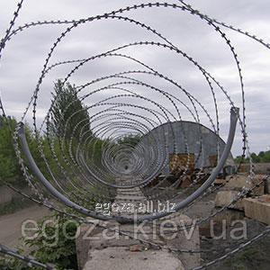 Купить Колючая проволока Егоза Аллигатор 600/5 спиральный барьер