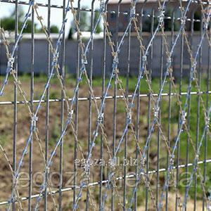 Купить Колючая сетка Пиранья 2х6 забор из колючей проволоки