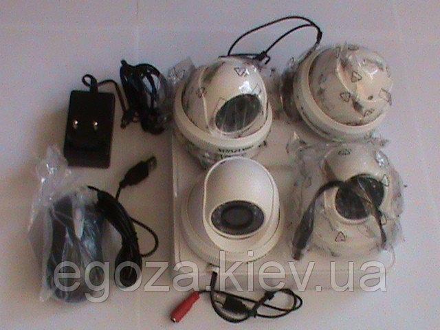 Купить Комплект системы видеонаблюдения 4 внутренних камеры Profvision