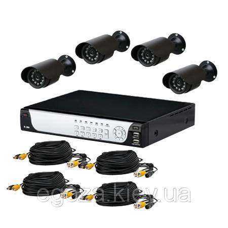 Купить Комплект системы видеонаблюдения на четыре камеры