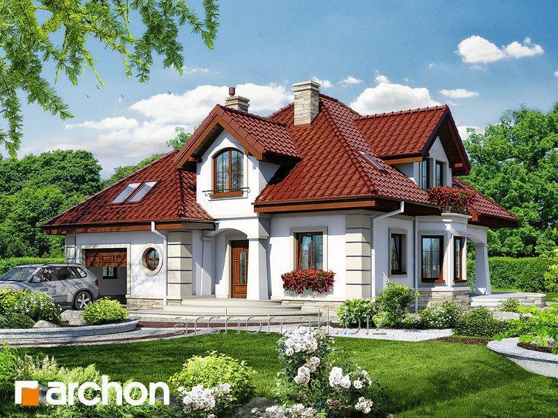 Проект среднего дома (150-200 м2) Дом под туями