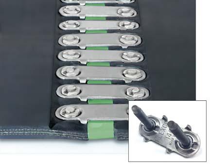 Механические болтовые неразъемные соединения для лент ш.5-11 мм