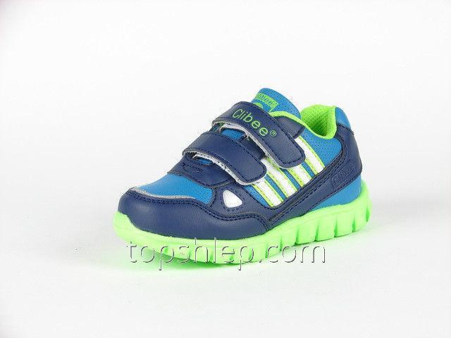 Детские кроссовки Clibee:F-561 тм.Синий+Салатовый С 20р по 26р