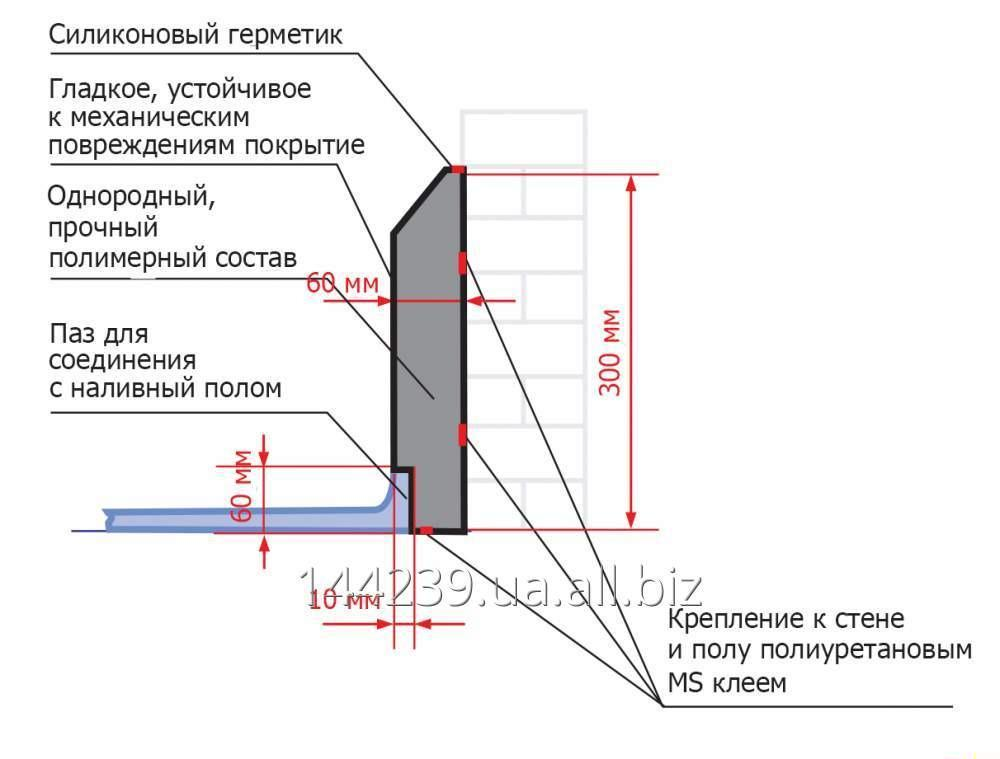Бордюр защитный ПолиТон БР 30 Н