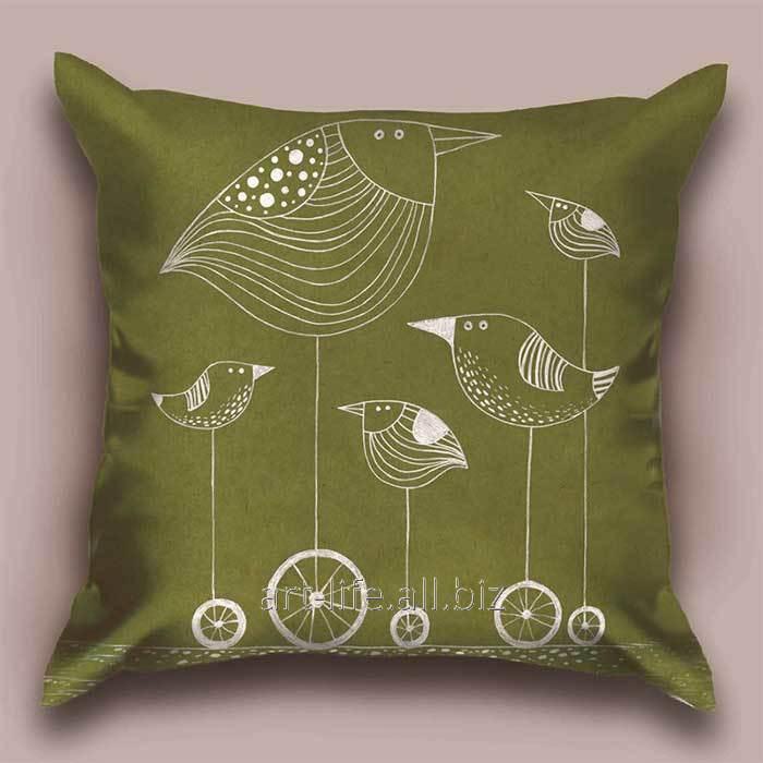Дизайнерская декоративная подушка Птичка Z, арт. 1Pd-2-50х50_а