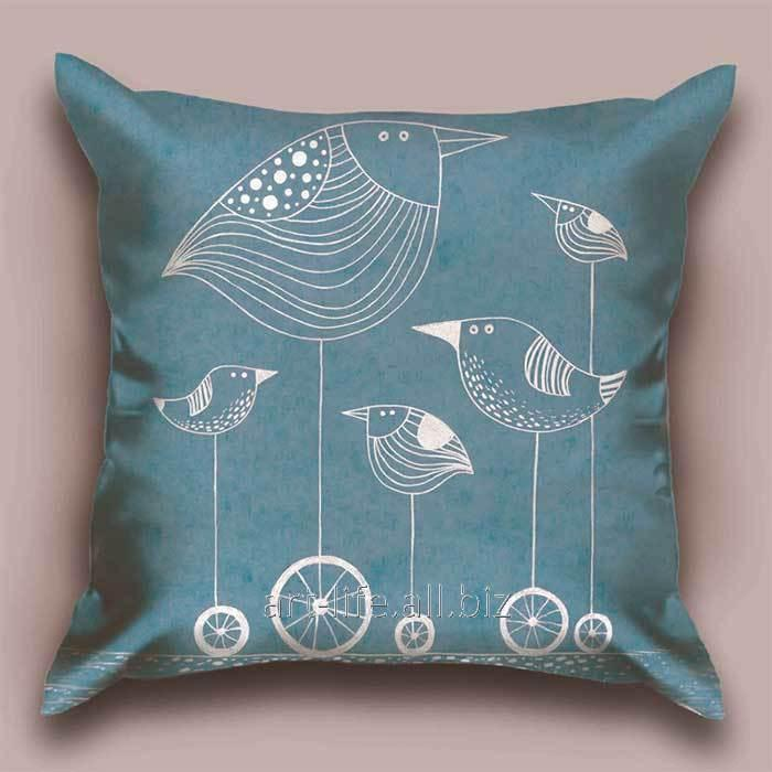 Дизайнерская декоративная подушка Птичка G, арт. 1Pd-3-50х50_а