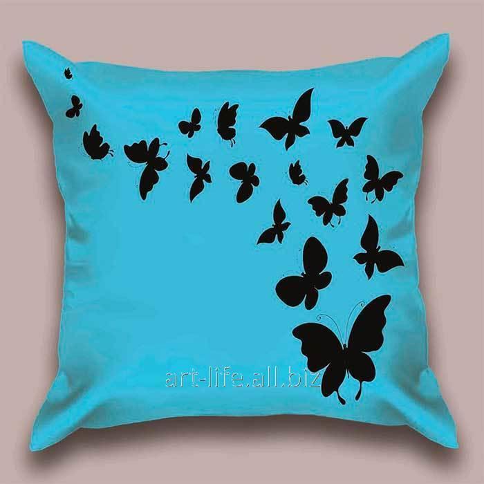 Дизайнерская декоративная подушка Небесный полет бабочек, арт. 1Pd-12-50х50_а