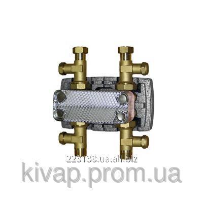 """Теплообменный узел в комплекте с кожухом BRV, 1"""", 16 пластин"""