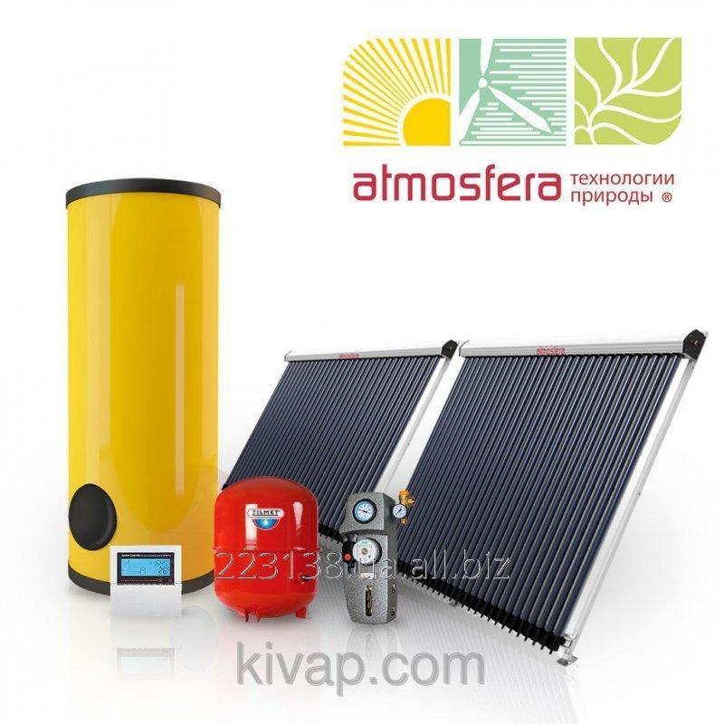 The Atmosfera-Prosto! heliosystem of 300 l on vacuum collectors