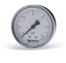 "Manometer of axial 63 mm, G1/4"", 0-6 Bars"