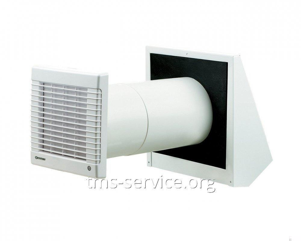 Ventilation channel in a private house. Exhaust ventilation in the house 75