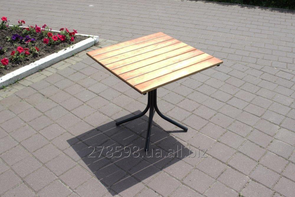 T-Classic-BL Стол Классический (черный металл, светлое дерево)