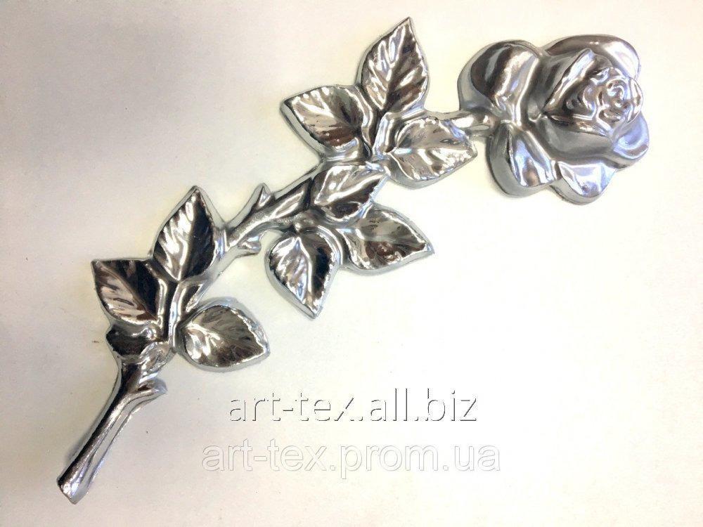 Роза 6.06 290*100мм серебро
